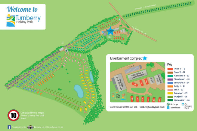 Turnberry Holiday Park Map