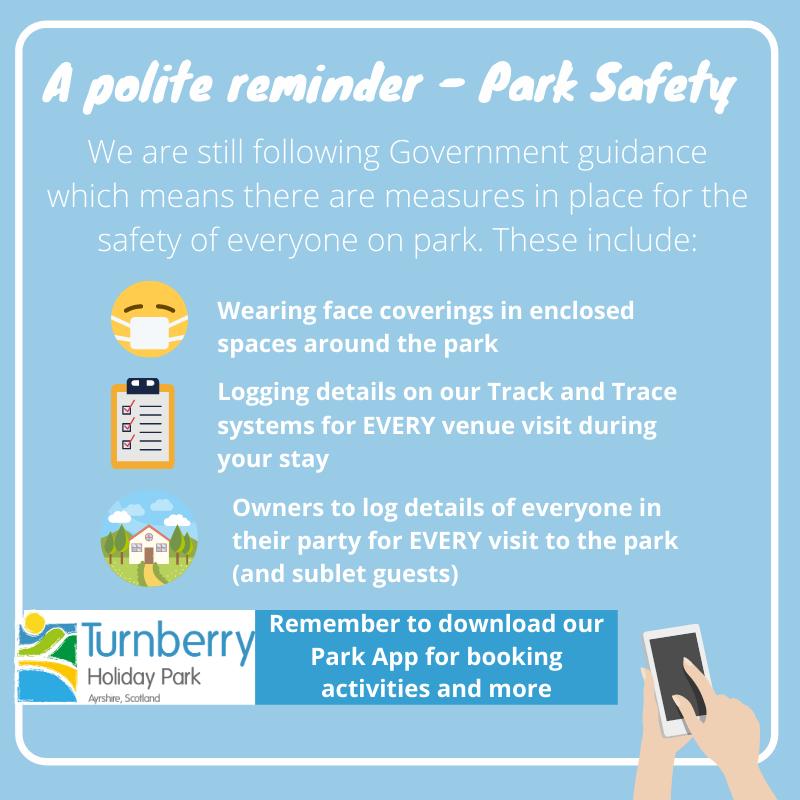 Park safety at Turnberry Holiday Park